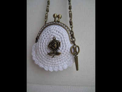 Вязаные сумки и кошельки.  Crochet handbags and purse.