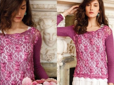 #11 Lace and Cable Pullover, Vogue Knitting Early Fall 2013