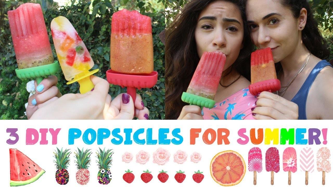 3 DIY Popsicles for Summer!☀️