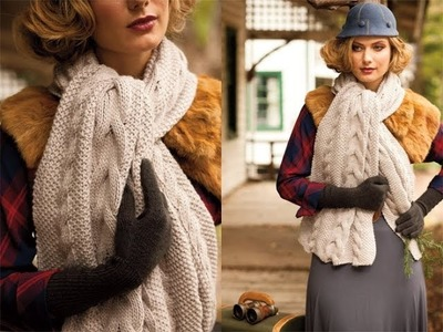 #3 Reversible Cable Scarf, Vogue Knitting Winter 2010.11