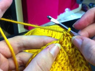 Adjacent double crochet (adc) for Chromium Star crochet tutorial