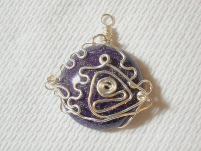 BeadsFriends: Wire bezeled cabochon (Resin cabochon) - Experiments with wire | Beaded Jewelry