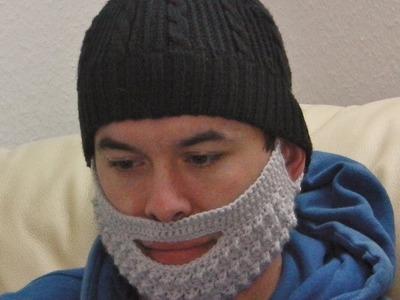 Beard mask crochet tutorial