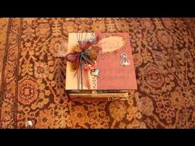 Capture Life's Moments Scrapbook Mini Album Vintage style DCWV Heirloom Stack