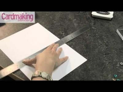Cardmaking & Papercraft - How to: make a base card