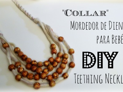 """Collar"" DIY Mordedor de Diente para Bebé Nursing.Teething Necklace"