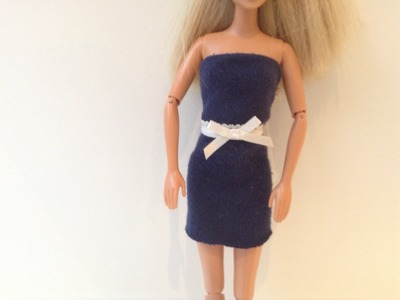 Craft~ No-Sew Easy To Make Doll Dress! Soph Ine