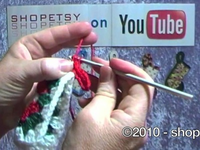 Crocheted Bootie Ornament Tutorial - PART 1