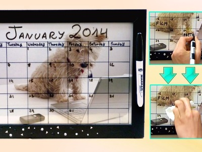 DIY back to school ❤ Dry erase calendar! Easy & customizable