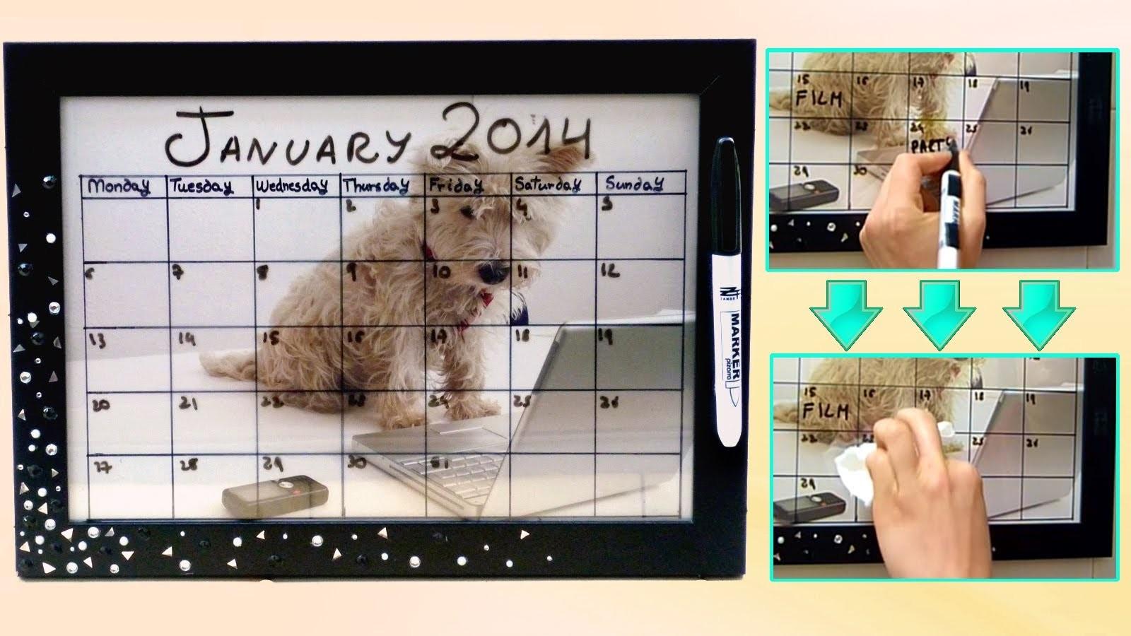 DIY back to school ❤ Dry erase calendar! Easy & customizable