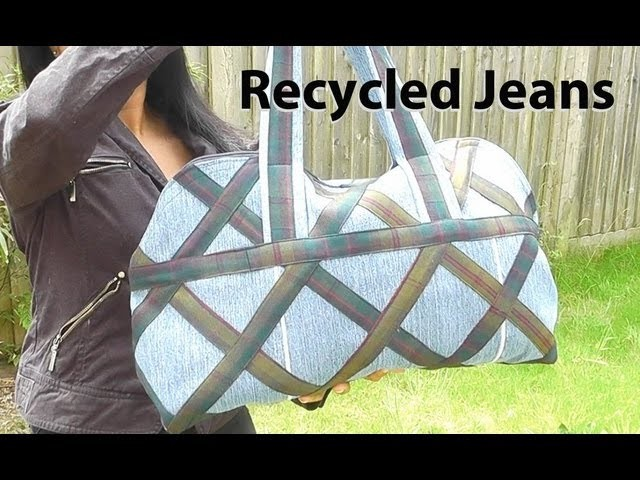 DIY Country Designer Bag. How to make a hand bag. Recycled jeans