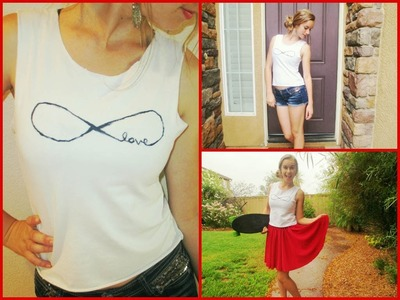 ♥ DIY Days: Infinty Muscle Tee + 2 ways to Style! Ep.2