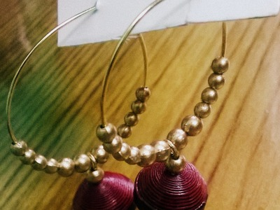 DIY Elegant Ring Earring in 5 minutes using paper jhumka