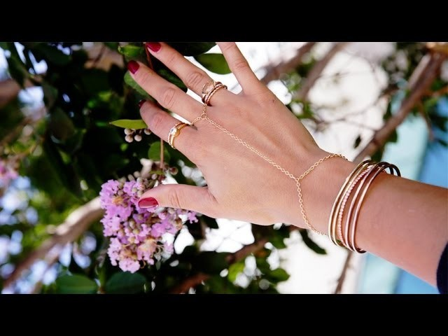 DIY Fashion | Gold Handpiece Bracelet-Ring | Designer DIY