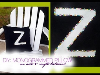 DIY: Monogrammed Rhinestone Pillow | An Arts & Crafts Project
