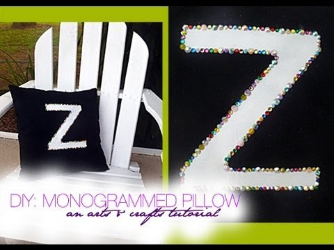 DIY: Monogrammed Rhinestone Pillow | An Arts & Crafts Project