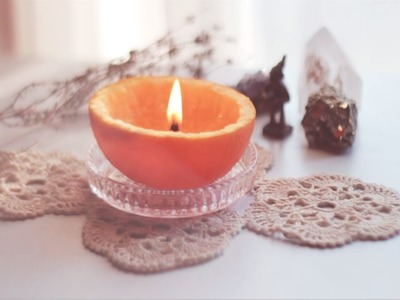 DIY Orange Candle