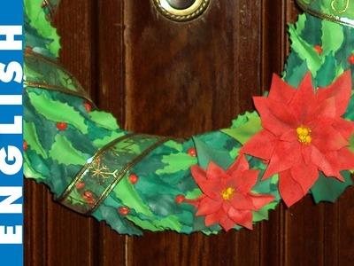 DIY Poinsettia wreath from scratch-craft foam