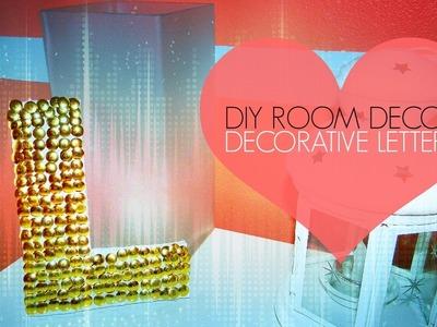 DIY Room Decor ♡ Decorative Letter Wall Art. Thumb Tack Art!