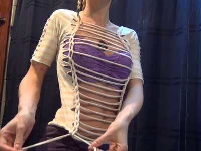 DIY T-Shirt Cutting Tutorial Reconstruction