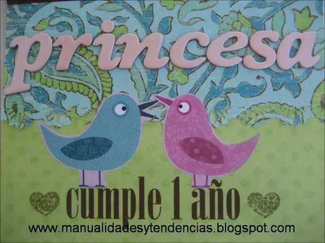 DIY Tarjeta de cumpleaños infantil Pop-up . DIY Pop-up birthday card for a baby