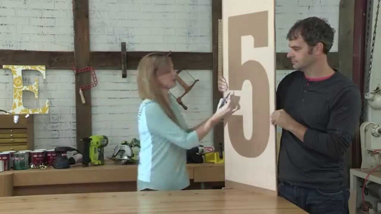 DIY Wall Art: Wooden Letters and Numbers Handmade decor for your home
