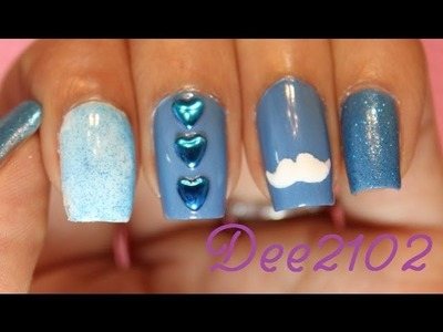 Easy Mustache Nail Tutorial and DIY Stencil | Dee2102
