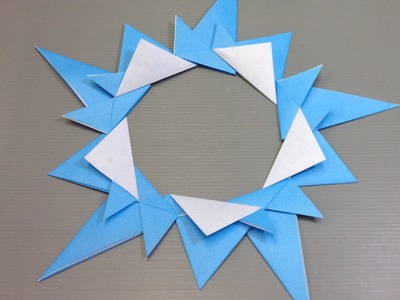 Easy Origami Christmas Ice Cyrstal Wreath