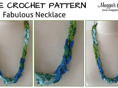 Fabulous Necklace Free Crochet Pattern - Right Handed