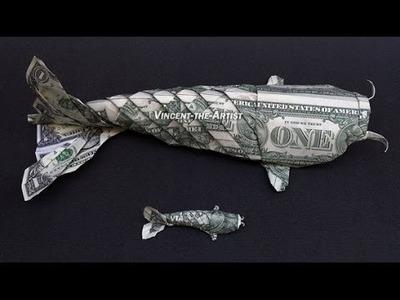 Foot Long Money Origami Koi Fish Dollar Bill Art