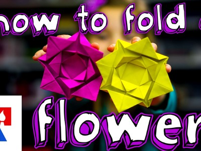How To Fold An Easy Origami Flower