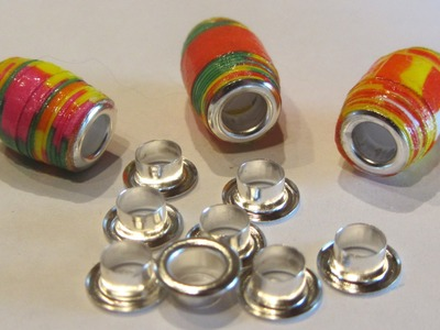 How to Gloss Paper Beads and Insert Bead Cores  Paper Bead Craft Tutorial