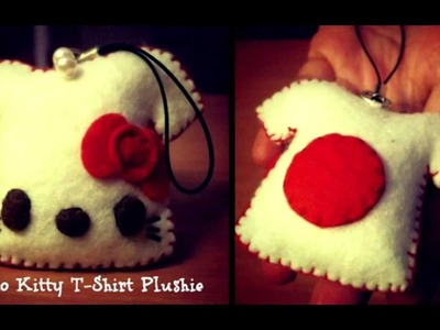 How To Make A T-Shirt Plushie (How to attach a cellphone strap to your plushies) Tutorial