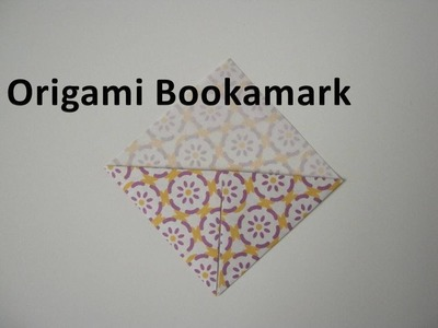 How to make an Origami Bookmark