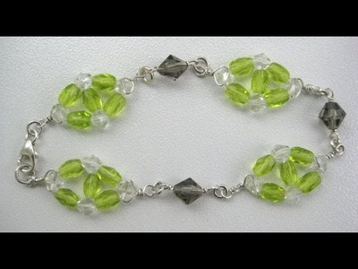 How to make Beaded Wire Wrapped Bracelet or Necklace-Part 1