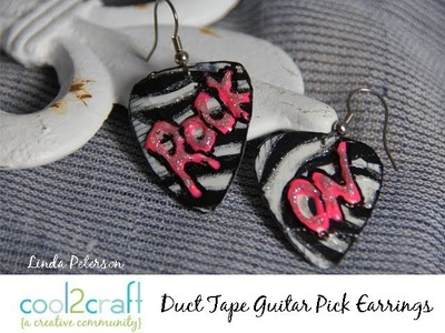 How to Make Duct Tape Guitar Pick Earrings by Linda Peterson