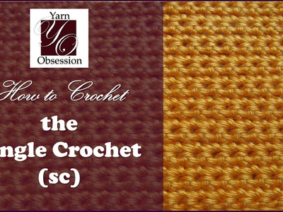 How to Single Crochet (sc) - Beginner Series
