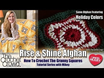 Learn How to Crochet the Rise & Shine Afghan with Mikey from The Crochet Crowd