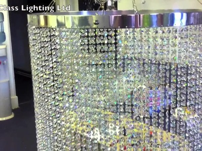 Made to measure, custom Made Crystal Chandelier lamp shades 2 from First Class Lighting LTD