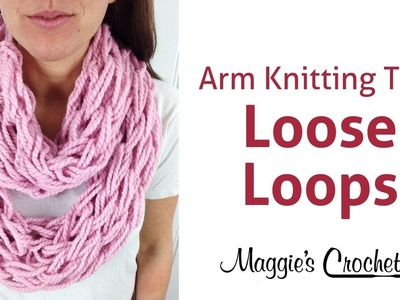 MAGGIE'S ARM KNITTING TIPS: Loose Stitches for Larger Afghan Projects - Right Handed