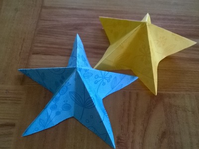 Origami 3d origami paper stars tutorial origami for How to make 3d paper stars easy