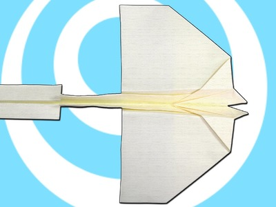 Paper Origami Swallow Airplane that Fly for Kids