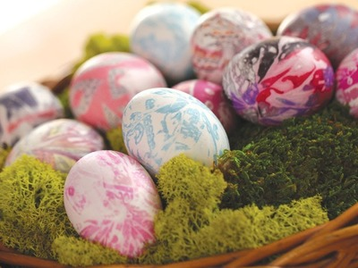 Robert's Tie-Dyed Easter Eggs || KIN DIY