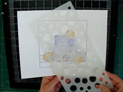 Scrapbooking Process Stencil Background and Embellishment groups
