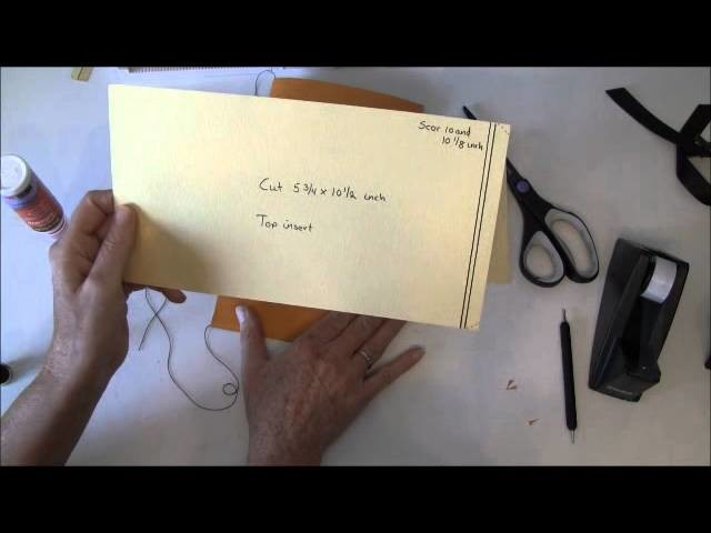 Tutorial on how to make page, insert, thread page binding and binding cover for photo mini album