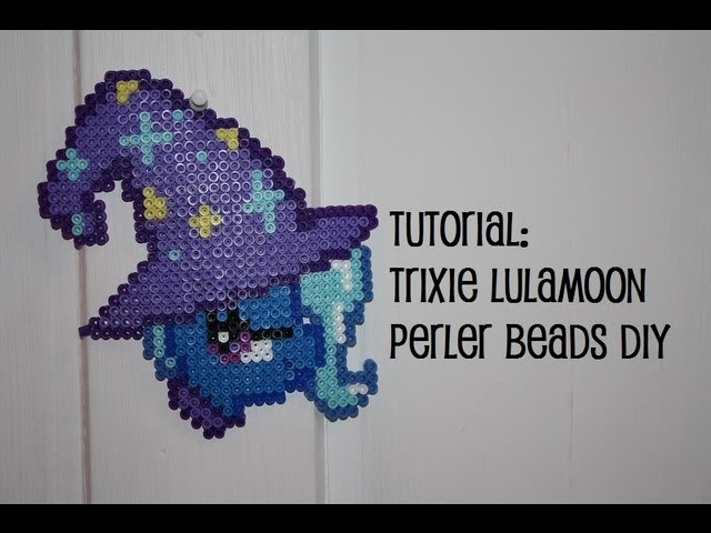 TUTORIAL: Trixie Lulamoon My Little Pony FiM - Perler Beads DIY