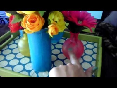 Upcycling DIY Cheap Goodwill finds Home Decor Storage Splash of color!!!