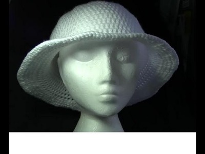 Wide Brim Hat Crochet Tutorial
