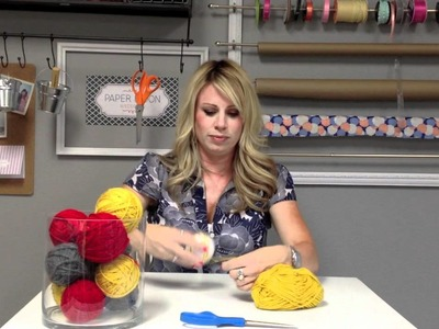 Yarn Ball Centerpiece DIY