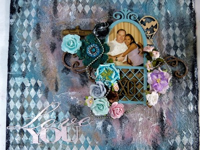 12x12 Mix media layout Love you 4-27-15